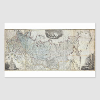 1787 Wall Map of the Russian Empire Sticker