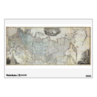 1787 Wall Map of the Russian Empire Wall Sticker