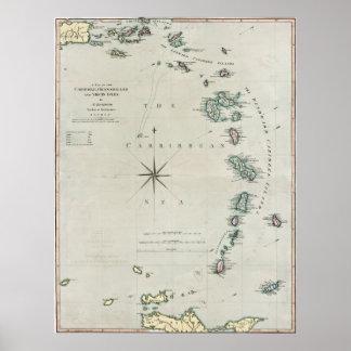 1789 Caribbean Islands Poster