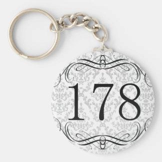 178 Area Code Keychain