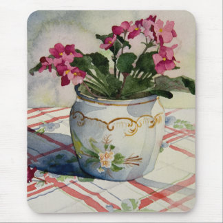 1790 African Violets in Blue Pot Mouse Pad