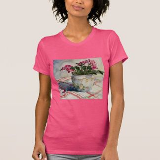 1790 African Violets in Blue Pot Tshirts