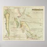 1790 carta los ríos de St Mary y de Nassau Impresiones