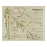 1790 Chart St. Mary's and Nassau Rivers Poster