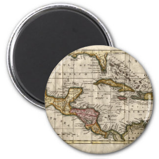 1790 Map of The West Indies by Dilly and Robinson 2 Inch Round Magnet
