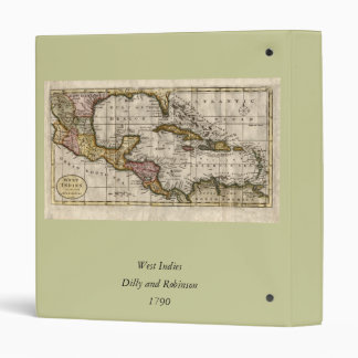 1790 Map of The West Indies by Dilly and Robinson Binder