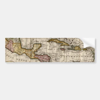 1790 Map of The West Indies by Dilly and Robinson Bumper Stickers