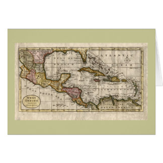 1790 Map of The West Indies by Dilly and Robinson Greeting Card