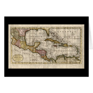 1790 Map of The West Indies by Dilly and Robinson Card