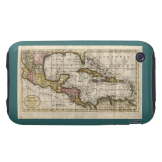1790 Map of The West Indies by Dilly and Robinson Tough iPhone 3 Cases