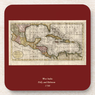 1790 Map of The West Indies by Dilly and Robinson Drink Coaster
