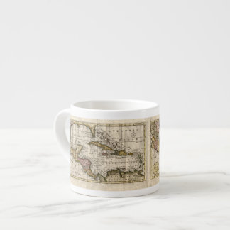 1790 Map of The West Indies by Dilly and Robinson Espresso Cup