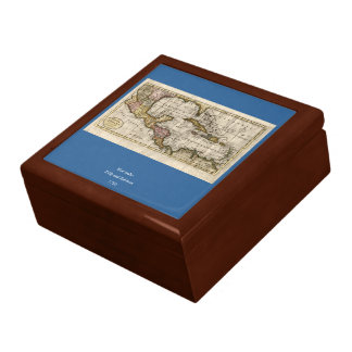1790 Map of The West Indies by Dilly and Robinson Keepsake Box