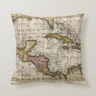 1790 Map of The West Indies by Dilly and Robinson Pillow