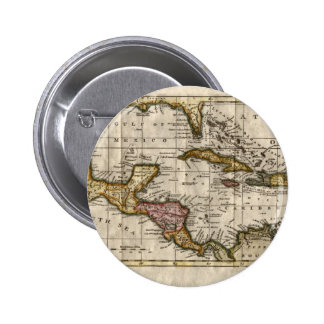 1790 Map of The West Indies by Dilly and Robinson Pinback Button