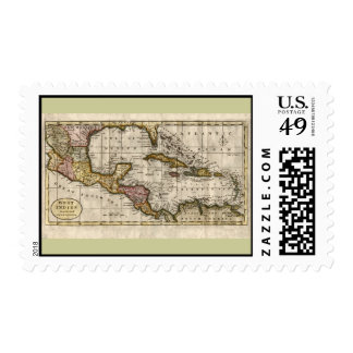 1790 Map of The West Indies by Dilly and Robinson Postage Stamp