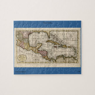 1790 Map of The West Indies by Dilly and Robinson Puzzle