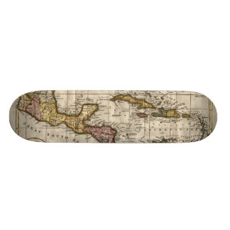 1790 Map of The West Indies by Dilly and Robinson Skateboard Deck