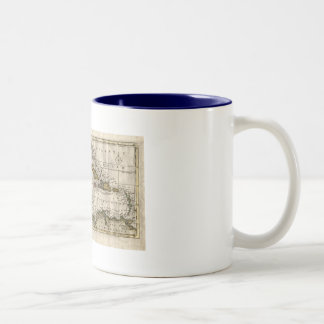 1790 Map of The West Indies by Dilly and Robinson Two-Tone Coffee Mug