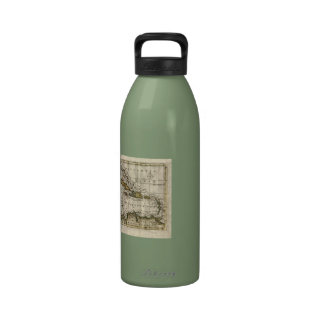 1790 Map of The West Indies by Dilly and Robinson Water Bottle