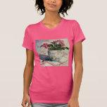 1790 violetas africanas en pote azul camisetas