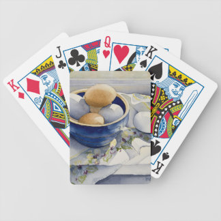 1791 Eggs in Blue Bowl Bicycle Playing Cards