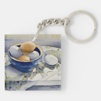 1791 Eggs in Blue Bowl Acrylic Key Chain