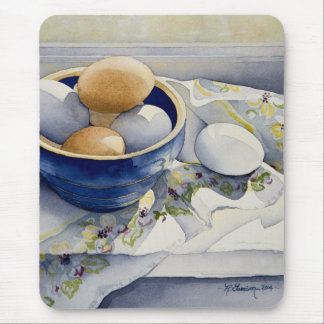 1791 Eggs in Blue Bowl Mouse Pad