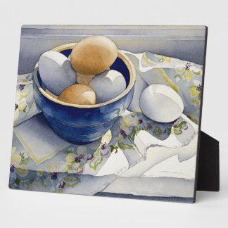 1791 Eggs in Blue Bowl Plaque