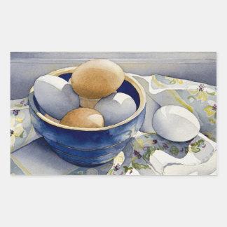 1791 Eggs in Blue Bowl Rectangular Sticker