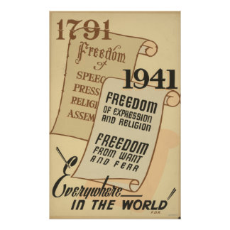 1791 - Freedom of speech. . . Poster