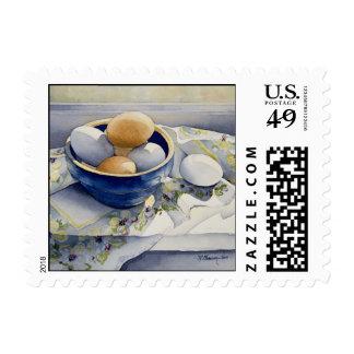 1791 huevos en franqueo azul del cuenco