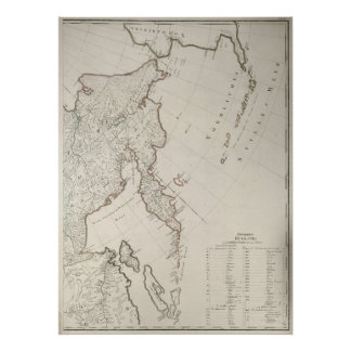 1792 Map of Russian Far East Poster