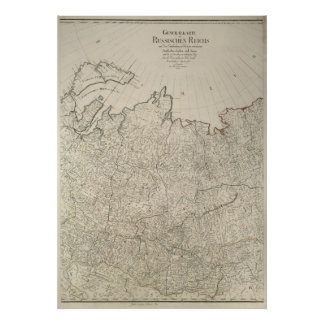 1792 Russian Empire Map Poster