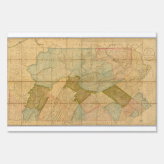 1792 State Of Pennsylvania Map by Reading Howell Yard Sign