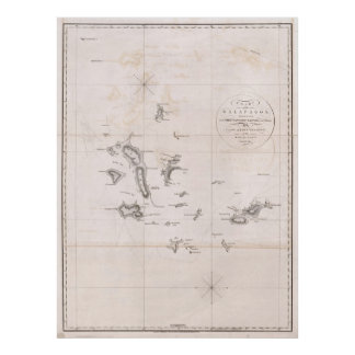 1793 Chart of the Galapagos Poster