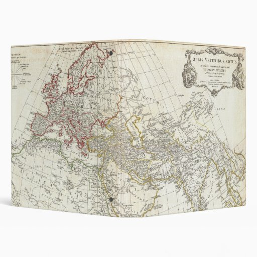 1794 Anville Map of the Ancient World 3 Ring Binder
