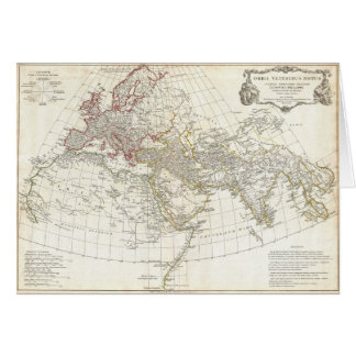 1794 Anville Map of the Ancient World Greeting Card