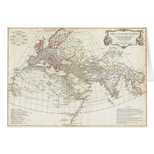 1794 Anville Map of the Ancient World Greeting Cards