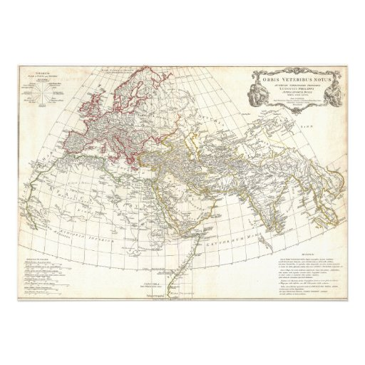1794 Anville Map of the Ancient World Personalized Invitation