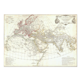 1794 Anville Map of the Ancient World 5x7 Paper Invitation Card
