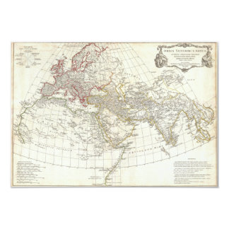 1794 Anville Map of the Ancient World 3.5x5 Paper Invitation Card