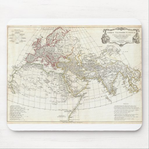 1794 Anville Map of the Ancient World Mouse Pad