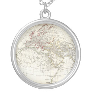 1794 Anville Map of the Ancient World Round Pendant Necklace