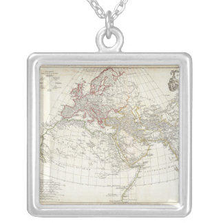 1794 Anville Map of the Ancient World Square Pendant Necklace