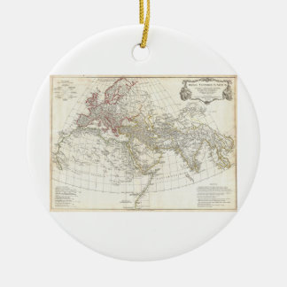 1794 Anville Map of the Ancient World Double-Sided Ceramic Round Christmas Ornament
