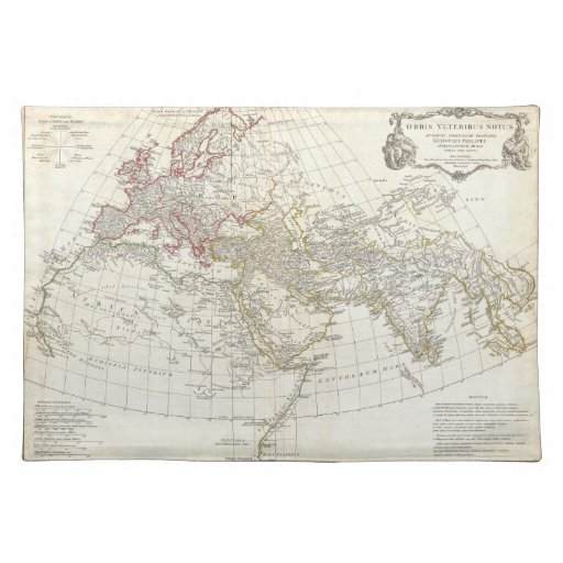 1794 Anville Map of the Ancient World Placemats