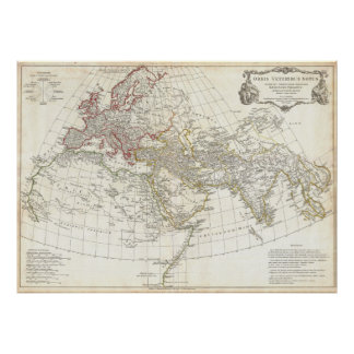 1794 Anville Map of the Ancient World Poster