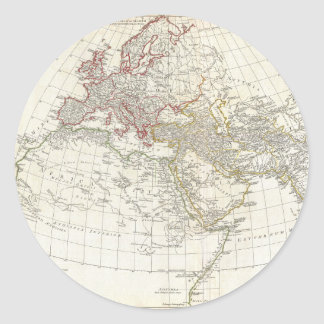 1794 Anville Map of the Ancient World Classic Round Sticker