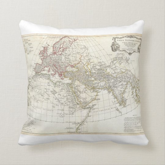 1794 Anville Map of the Ancient World Throw Pillow